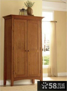 中式实木衣柜图片