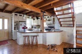 复式楼小厨房装修效果图大全2013图片