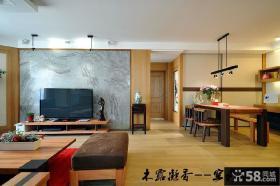 简中式客厅电视背景墙效果图大全图