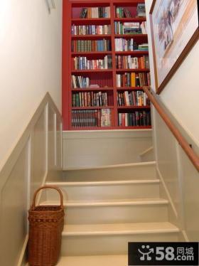 楼梯间书橱装修效果图片