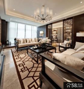 新中式别墅设计客厅效果图