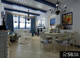 地中海风格小户型餐厅装饰画效果图