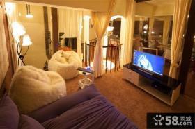 小复式客厅背景墙图片