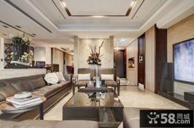 美式风格客厅电视背景墙设计图大全
