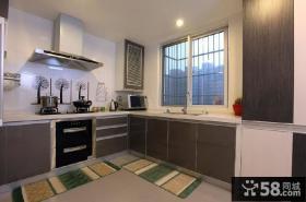 现代深色厨房橱柜图片欣赏