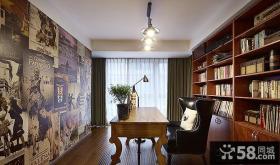美式乡村风格家居书房装修图片大全