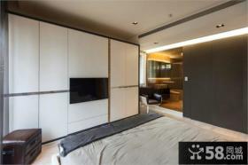 简单卧室背景墙设计效果图