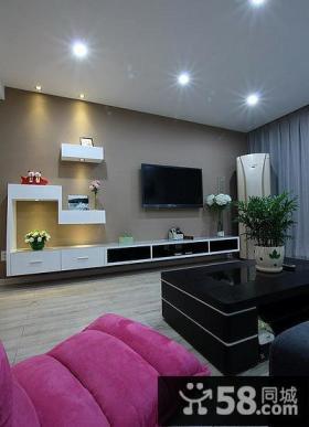 日式现代客厅电视背景墙欣赏