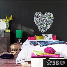 心形卧室背景墙装修图片
