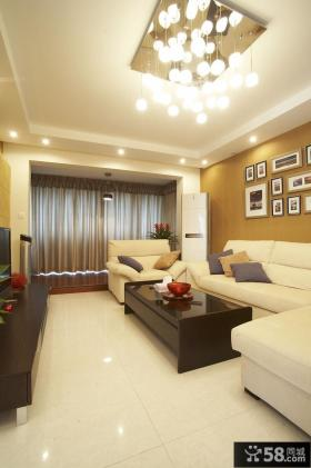 70平小户型家装客厅吊顶设计效果图