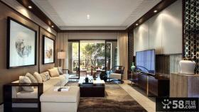 现代中式古典客厅设计装修图片