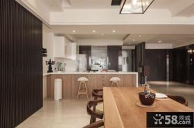 简约风格厨房吧台隔断设计