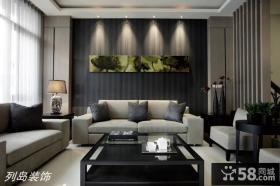 现代简约风格客厅沙发背景墙效果图大全