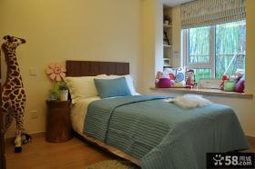 简约创意风格三室两厅卧室装修效果图