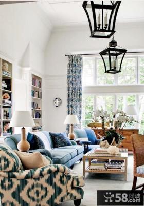 欧式风格大空间复式客厅