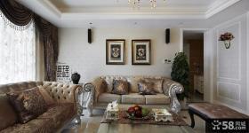 豪华欧式客厅沙发效果图