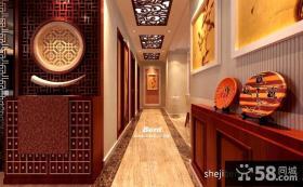 中式走廊吊顶装修效果图