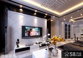 现代风格客厅电视背景墙效果图2013
