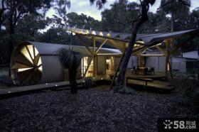 不寻常的创意露营度假别墅阳台装修效果图大全2014图片