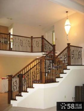 室内铁艺楼梯效果图片