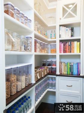 家庭厨房橱柜摆放图片欣赏