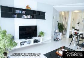 2013现代风格客厅电视背景墙装修效果图片