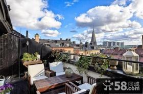 小复式楼露天阳台装修效果图大全2013图片