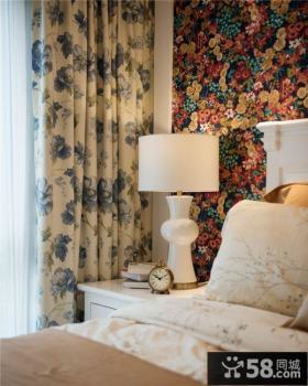 家庭设计卧室窗帘效果图大全欣赏