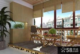 封闭式阳台休闲区设计效果图