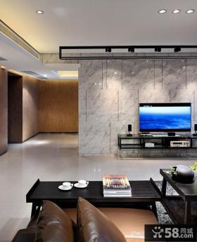 现代简约客厅大理石背景墙装修效果图大全2012图片