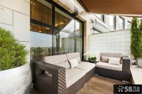 家居阳台休闲椅图片