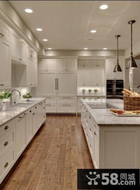 古典美式风格客厅厨房橱柜装修效果图大全2014图片