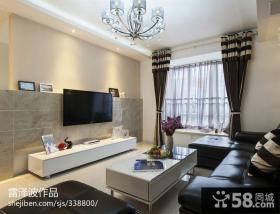 客厅瓷砖电视背景墙图片