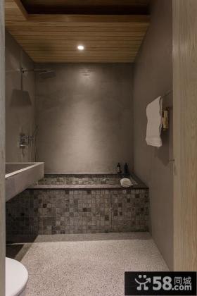现代家居浴室仿古风格装修效果图