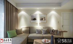 简约风格客厅沙发背景墙效果图