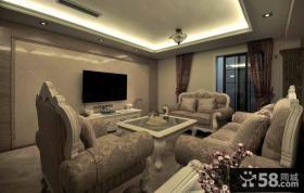 客厅瓷砖电视背景墙设计图片