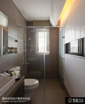 现代简约风格卫生间淋浴室装修效果图