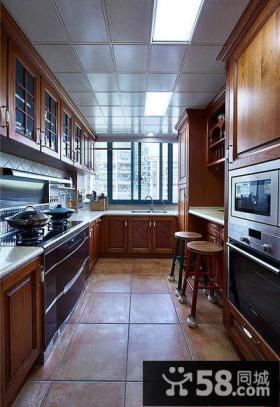 美式4平米厨房橱柜欣赏