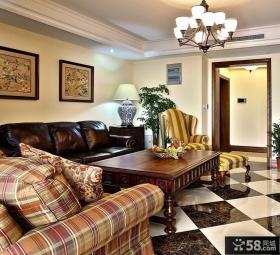 美式乡村风格两居室客厅装修