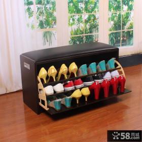 日式创意收纳鞋柜效果图