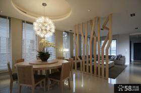 客厅与餐厅隔断设计