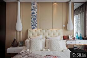 现代风格卧室床头背景墙效果图大全