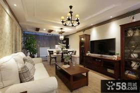 美式风格室内设计客厅电视背景墙大全