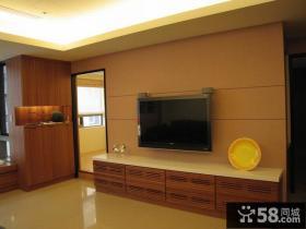 现代风格二居电视背景墙装修图片