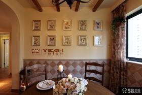 美式乡村餐厅照片背景墙效果图欣赏