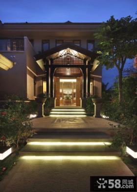 新中式别墅外观图片