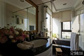 美式简约风格浪漫卫生间设计图