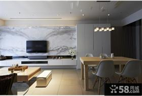 现代简约家装电视背景墙图片
