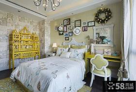 新古典风格别墅卧室装修室内效果图