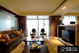 现代欧式风格客厅电视柜效果图